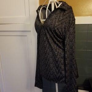 Cuddldud L gradient black and grey top